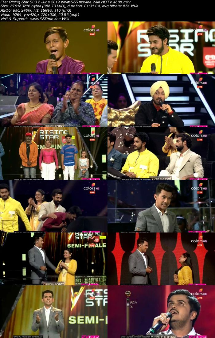 Rising Star S03 2 June 2019 HDTV 480p Full Show Download