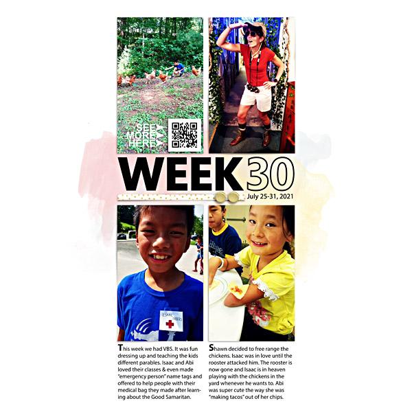 Week 30 {left} - Digital Scrapbook Page