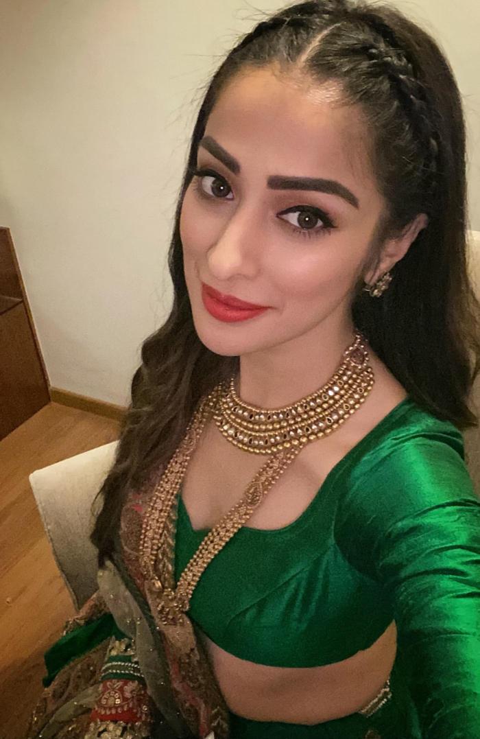 Raai Laxmi Looks Hot in Green Dress