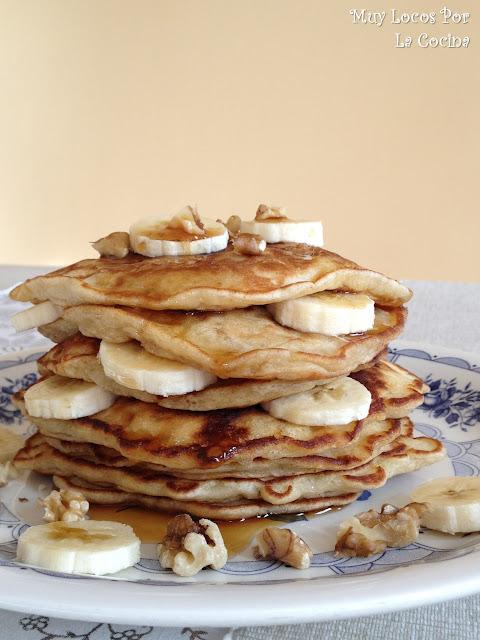 Banana Pancakes (Tortitas Americanas de Plátano)