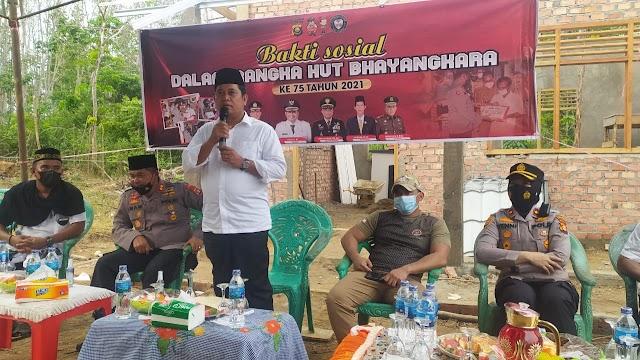 Karang Turuna Hadiri HUT Bhayagkara Ke 75 Di Kecamatan Betung