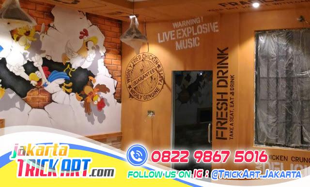 Lukisan Dinding Cafe Sangat Efektif Menarik Pengunjung