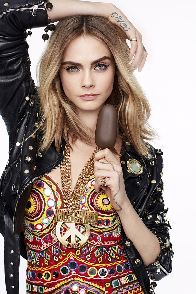 Moschino in Magnum Campaign featuring Cara Delevingne