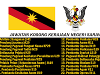 Jawatan Kosong Terkini Kerajaan Negeri Sarawak 2019