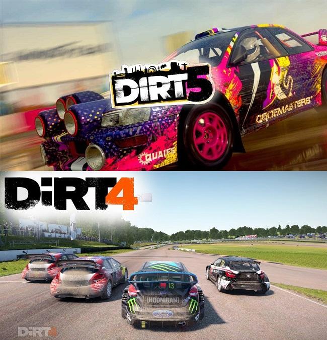 Comparison of Dirt 5 vs Dirt 4