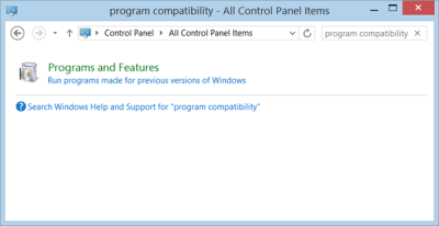 Program Compatibility Troubleshooter Windows