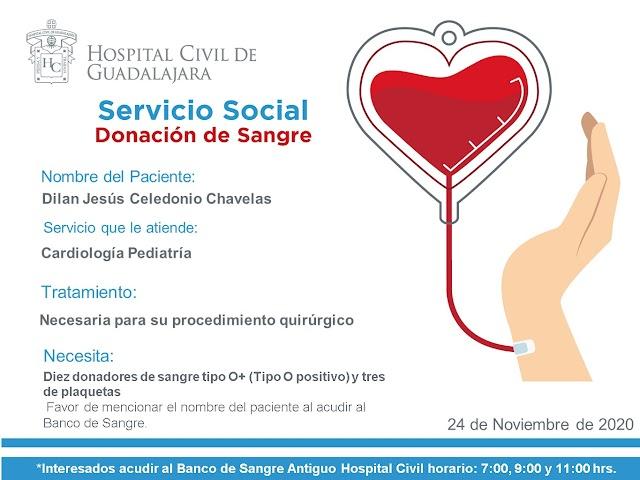 """Servicio Social de Sangre """"Urgente"""""""