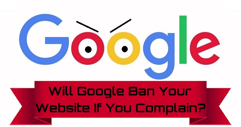 complain to google about a website