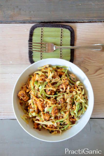 Buffalo Tempeh Quinoa Salad