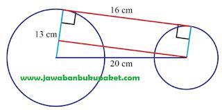Jadi panjang jari jari lingkaran kedua yang tepat adalah 1 cm www.jawabanbukupaket.com
