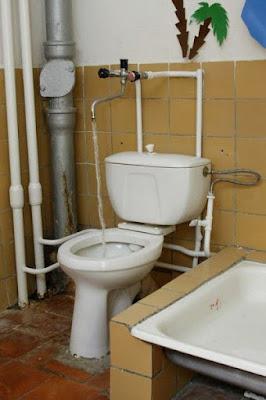 WC avec rince Q