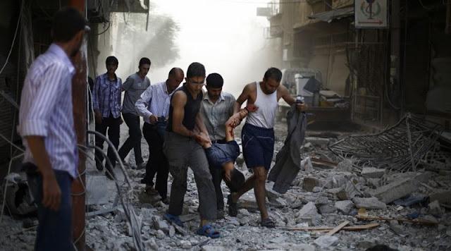 6 civiles muertos por el bombardeo de Estados Unidos en un barrio sirio