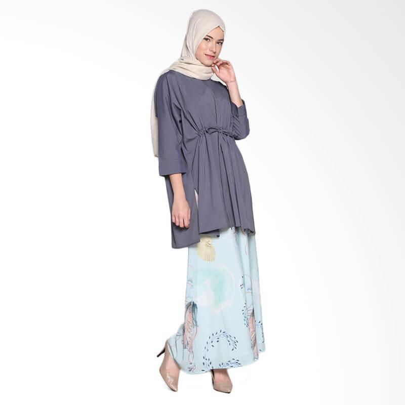 Ria Miranda Char Top Muslim Atasan Wanita - Dark Grey