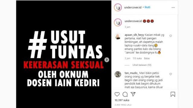 Desakan Usut Pelecehan S*ksual Dosen IAIN Kediri Menggema di Media Sosial