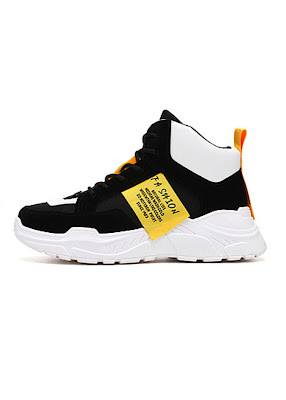 Giày thể thao nam cao cổ tăng 7 cm chiều cao Ulzzangboy, với 2 màu đế trắng và đế đen cá tính Hot 2019