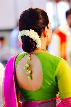 18 Indian Wedding Hairstyles with Jasmine Flowers | Bling Sparkle