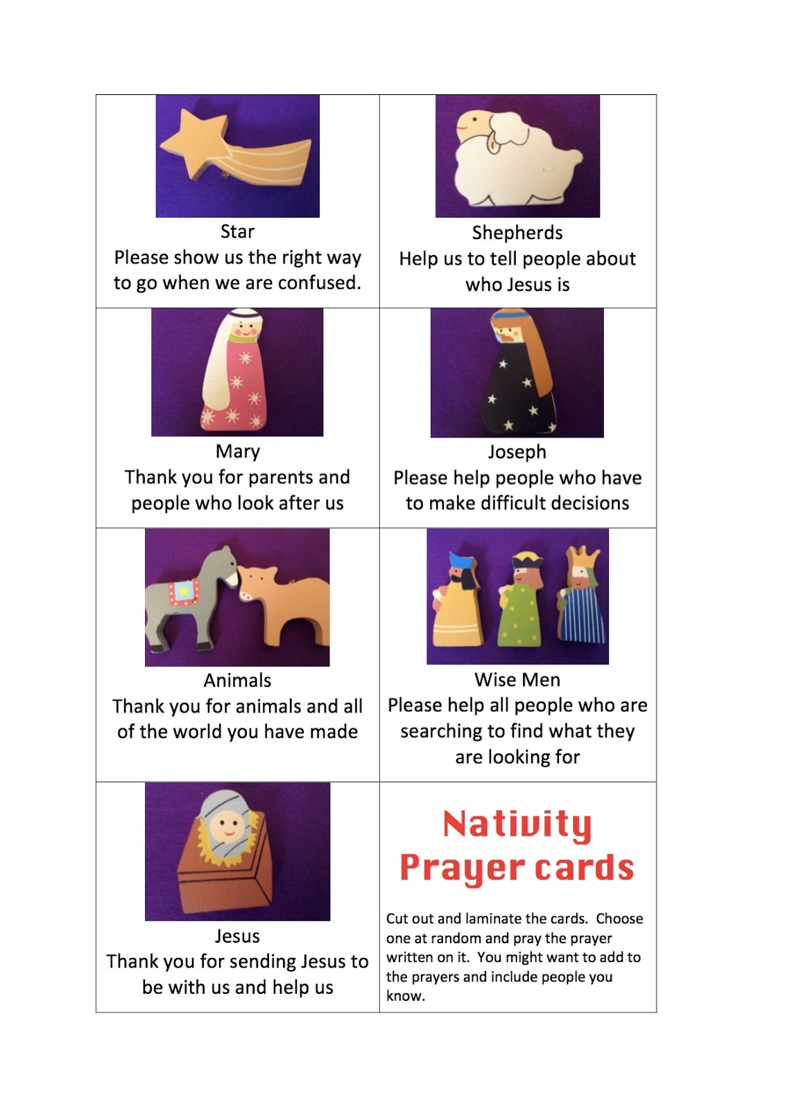 image regarding Printable Prayer Cards known as Flame: Artistic Childrens Ministry: Printable Nativity