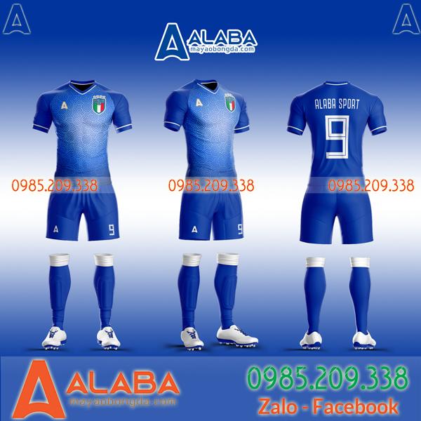 Áo Ý xanh vải Thái