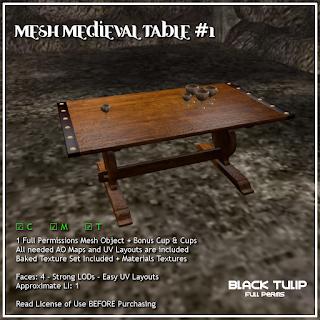 Mesh - Medieval Table #1