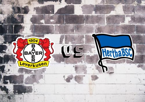 Bayer Leverkusen vs Hertha BSC  Resumen