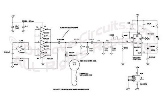 Wiring diagram khz wireless smart key detector for car