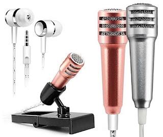 Mic Smule Karaoke / Headset Speaker Smule / Handsfree Microphone Mini