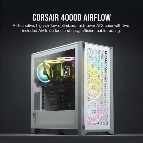 Corsair 4000D Airflow Tempered Glass ATX PC Case