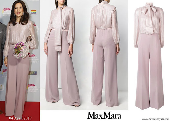 Crown Princess Mary wore Max Mara Leonida jumpsuit