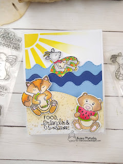 Summertime Fun a card by Diane Morales| Floaty Goat Stamp Set by Newton's Nook Designs