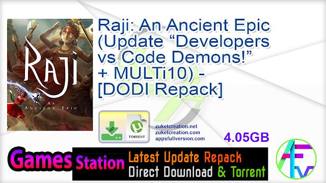 """Raji An Ancient Epic (Update """"Developers vs Code Demons!"""" + MULTi10) – [DODI Repack]"""