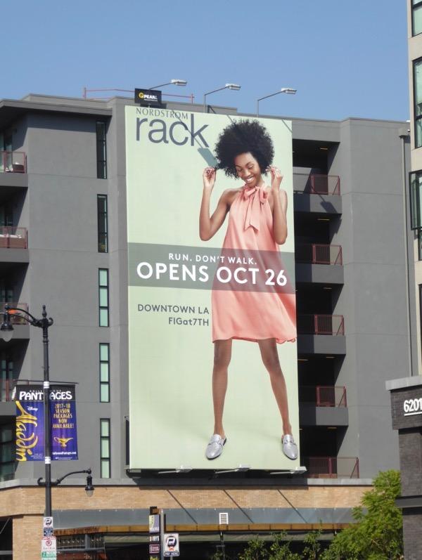 Nordstrom Rack DTLA opening billboard