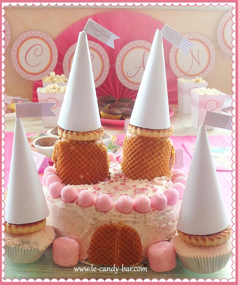 gâteau de princesse anniversaire