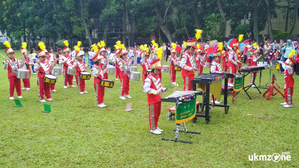 Lomba drumband di acara PANMAS FAIR 2018 di balaikota Depok dalam rangka sambut hut DEPOK ke 19