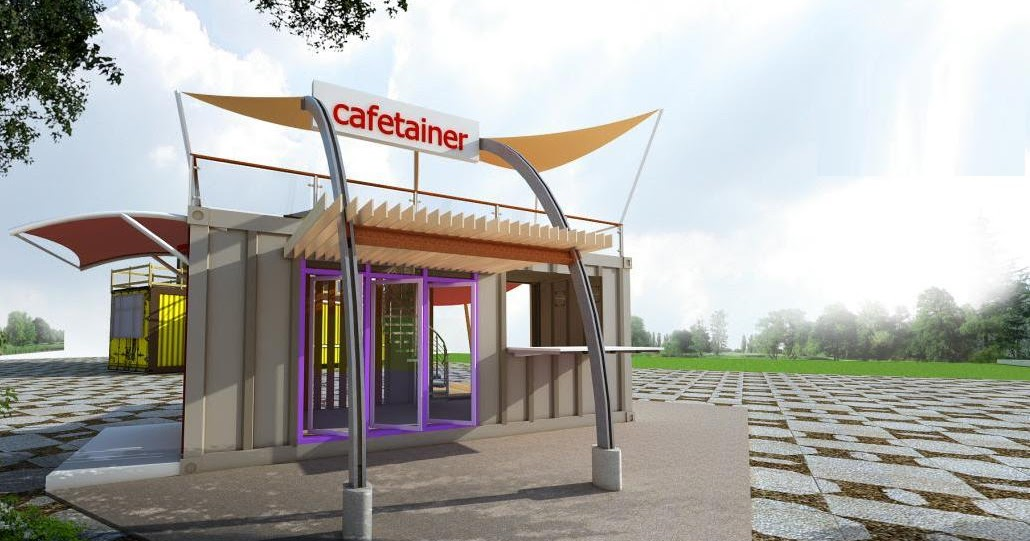 3d+cafe+container