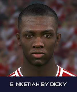 PES 2017 Faces Eddie Nketiah by Dicky