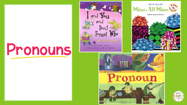 Here is a list of picture books to teach pronouns. Use these to introduce pronouns and engage your upper elementary students.