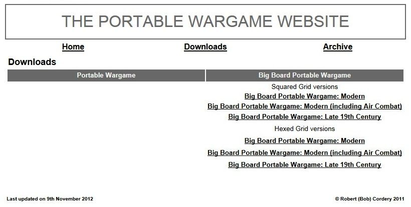 Wargaming Miscellany: Portable Wargame website updated