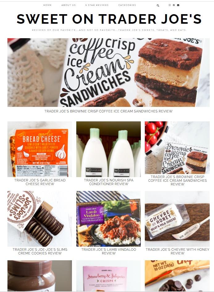 Introducing a new Trader Joe's review blog: Sweet on Trader Joe's