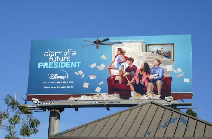 Diary of a Future President Disney+ billboard