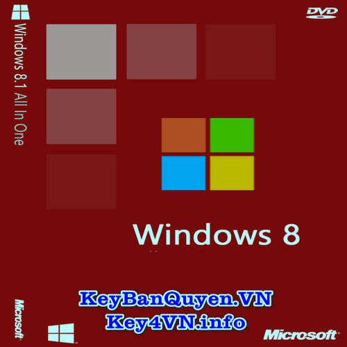 Mua bán key bản quyền Windows 8 Full 32 và 64 Bit .