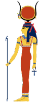 Hathor ancient Egypt gods and goddesses cheatsheet