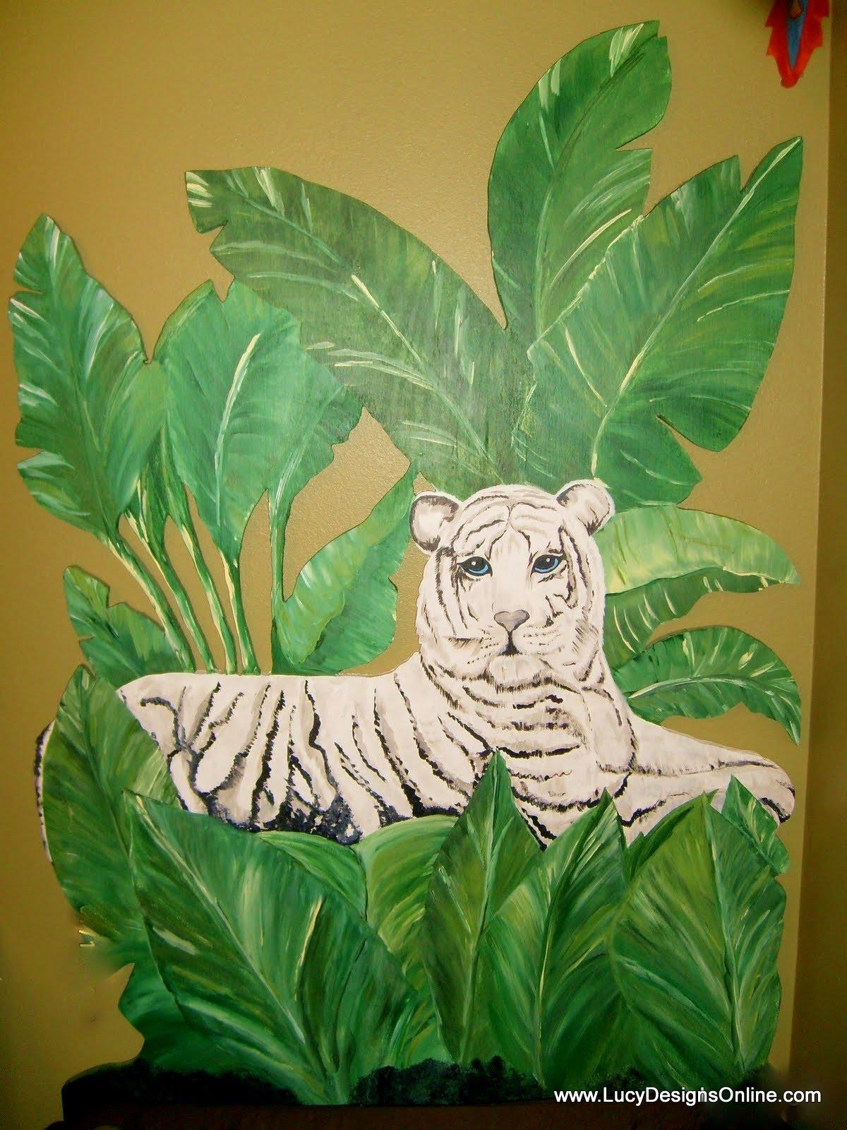 hand made tiger headboard