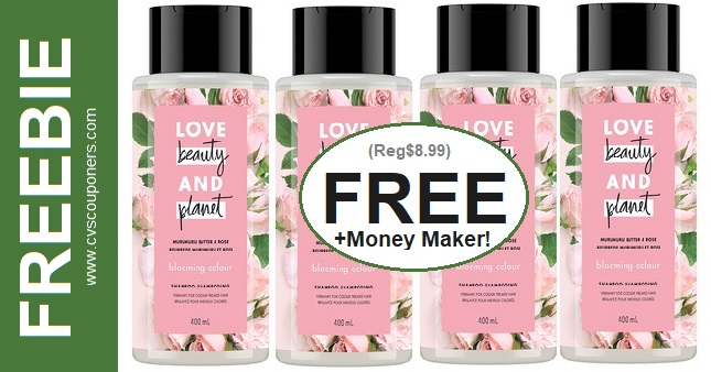 FREE Love Beauty & Planet Shampoo at CVS