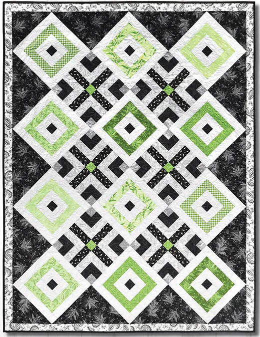 Greenery Quilt Free Pattern Designed by Rachel Shelburne for Maywood Studio