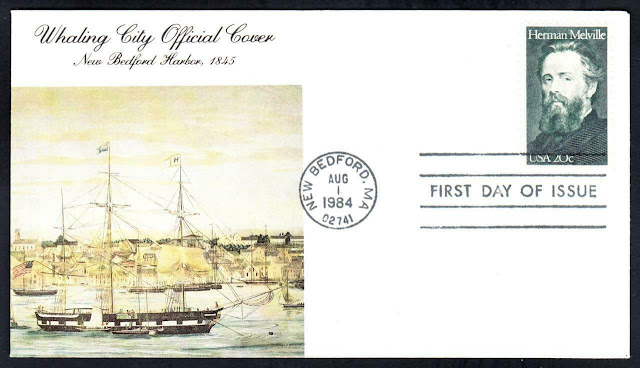 Moby Dick Whaling Herman Melville First Day Cover