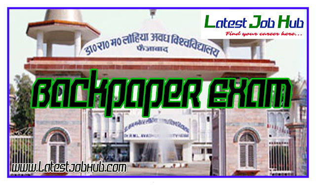 rmlau backpaper of jawahar degree college khushhalpur sahyogi bahraich faizabad college barabanki college backpaper of college barabanki patel sant kavi baba baijnath back paper date