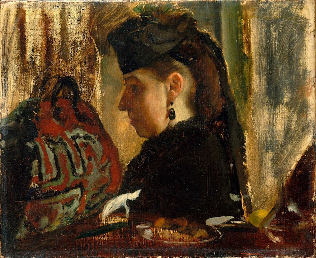 Эдгар Дега - Портрет Мадемуазель Мари Дье (ок.1868)