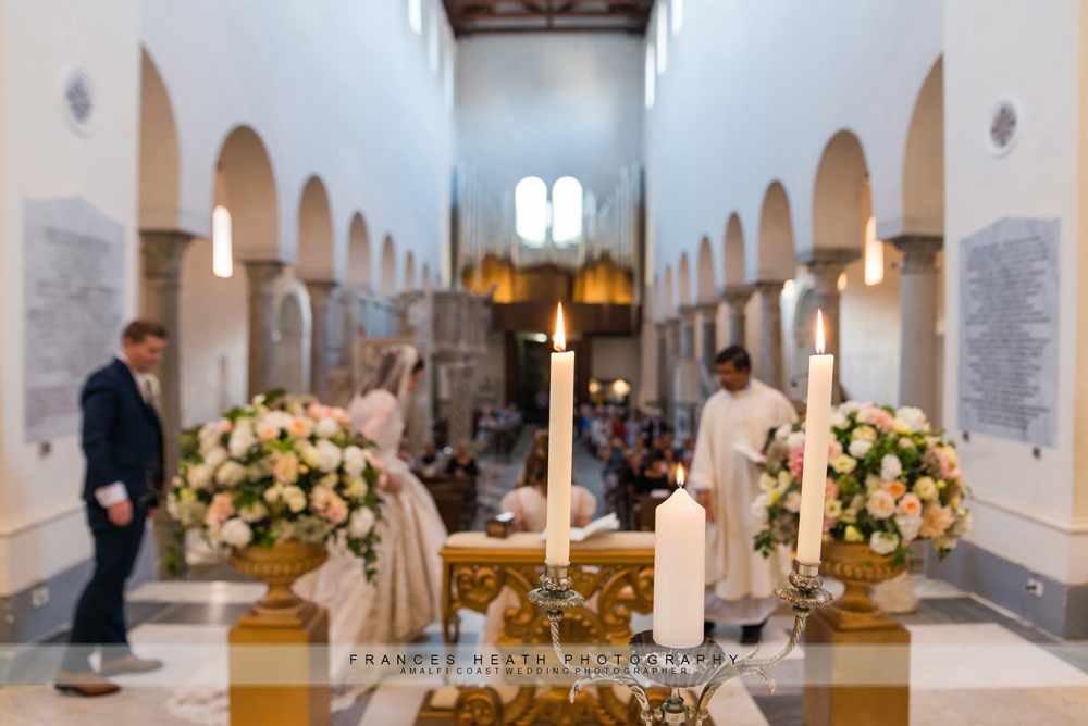 Catholic wedding in the Ravello Duomo
