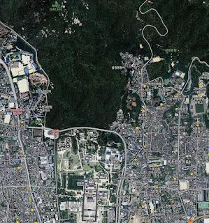En el mapa satelital de Naver la Oficina del Presidente de Seúl es un bosque