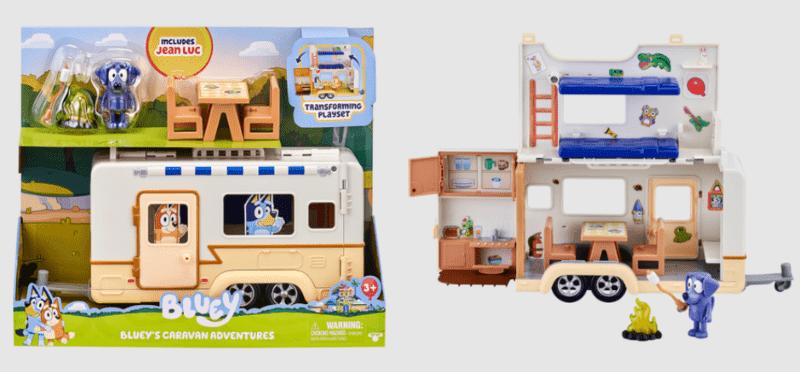 bluey caravan playset